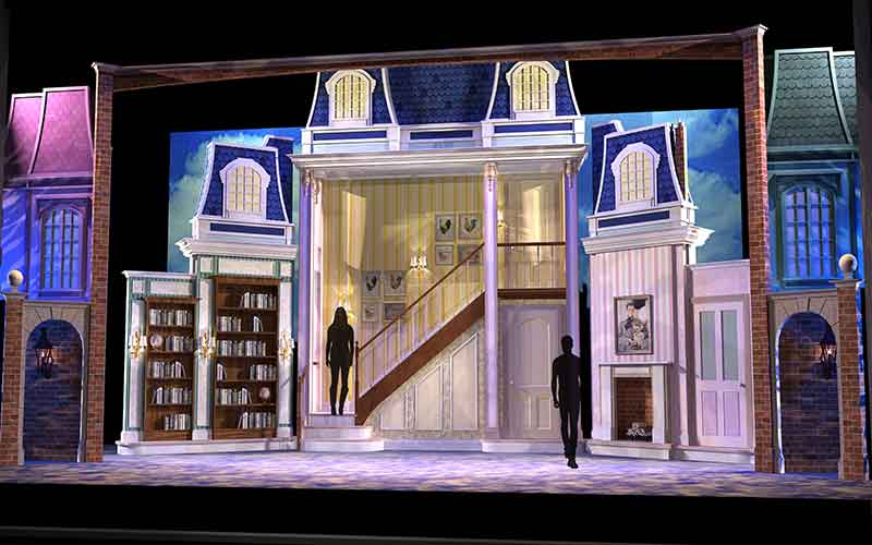 Mary Poppins set rentals from Front Row Theatrical Rental